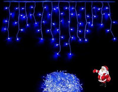 Eiszapfen-lichterkette (200 LEDs Blau Eiszapfen Lichterkette Eisregen Weihnachtsbeleuchtung )