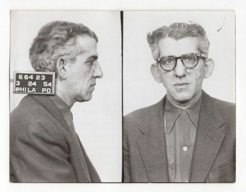 Nathan Rothman - Ex-Con, Lottery, Robbery - Original 1954 Philly PD Mugshot