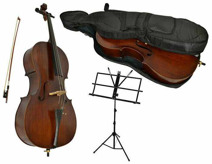 Sotendo 3/4 Size Student Cello Set with Music Stand