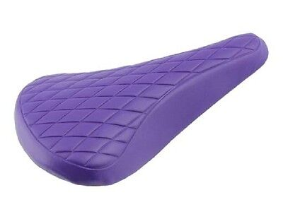 BMX BICYCLE SEAT VINYL SADDLE DIAMOND TREAD PURPLE BIKES, used for sale  Shipping to India