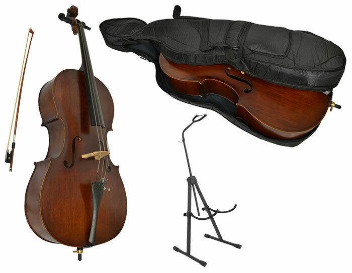 Sotendo 3/4 Size Student Cello Set with Stand