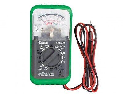 Velleman Avm460 Analog Multimeter With Holster Battery Test