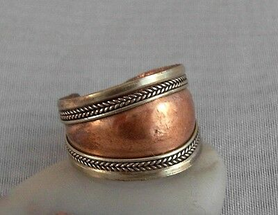 Schöner breiter Ring aus Kupfer ~ Tibet Nepal (366)