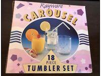 Carousel 18 piece tumbler set
