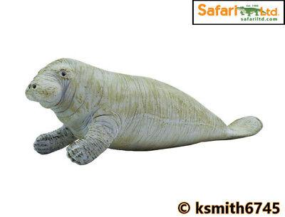 NEW * M/&B MANATEE solid plastic toy wild zoo animal marine Sea Cow Dugong