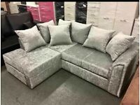 ❤️🤖 BRAND NEW CRUSH VELVET CORNER AND 3+2 SEATER SOFA SET AVAILABLE IN STOCK ❤️🤖