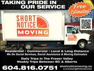 DAILY MOVING SERVICES BETWEEN VANCOUVER & PRINCE GEORGE BC