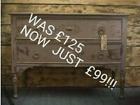 Chest of Drawers Vintage Shabby Chic