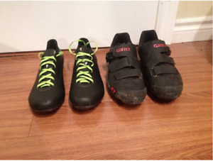 Cycling shoes, Spcialized and Giro - almost new,