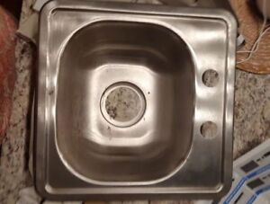 Standard Single bar sink. Price is Firm. New.