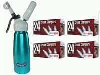 Whipped cream dispenser|whipper|balloons|nos|mosa|n2o|cream|canister|liss.