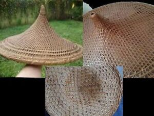 Vintage ASIAN BAMBOO STRAW