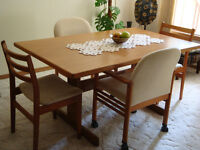 two nice teak chairs for dining room or anywhere ( $150 each )