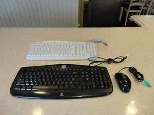 Great Shape Logitech & Microsoft Wired Keyboards & Optical Mouse