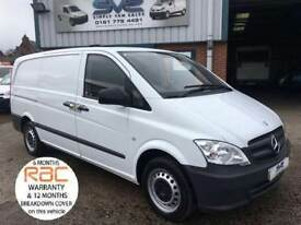 2012 62 MERCEDES-BENZ VITO LONG 113CDI 136BHP 1 OWNER FULL SERVICE HISTORY