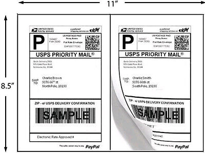 Premium Half Sheet Self Adhesive Shipping Labels 8.5 X 5.5  5126x 200 Pack