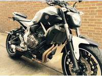 yamaha MT07 (MT-07) lots of extras, great bike, non ABS, £4300 ono