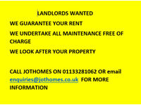 LANDLORDS WANTED- WE WILL RENT YOUR PROPERTY FOR 5 YEARS