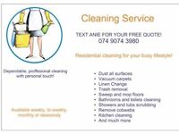 £10/h Domestic Cleaner Available 24/7 in Nottingham