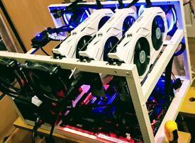 BITCOIN GPU MINERS Ethereum RX 580 GTX 1070 180-300+ MH/s BTC ETH XMR Ubiq ZEC 100% ROI Mining RIGS