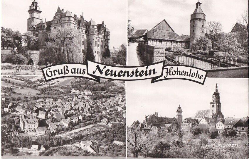 NEUENSTEIN Hohenlohe 4-Bild sw AK 1966