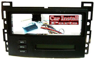 Pontiac G6 2006 Radio Dash Kit: Single Din Install W Onstar Digital Driver & Rap