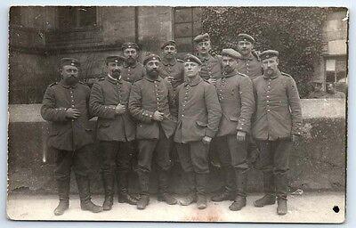 ANTIQUE Vintage WW1 GERMAN Real Photo RPPC Postcard SOLDIERS IN UNIFORM