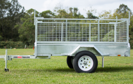8x5 Box Trailer 600mm Cage, Fully Welded - SPARE WHEEL PACKAGE