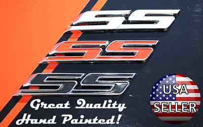 Super Sport SS Grill Trunk Lid Fender Emblem Decal Badge Chrome Black White Red