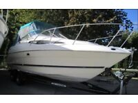 BAYLINER 2355 CIERRA ,,,,EXCELLENT BOAT , LOCH LOMOND + twin axle braked trailer
