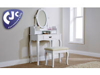 BRAND NEW LUMBERTON DRESSING TABLE WITH STOOL AND MIRROR,2 COLOURS! DELIVERY AVAILABLE!!