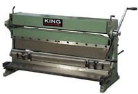 KING METAL SHEAR BRAKE AND ROLL #BB302