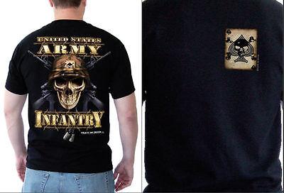 US Army Infantry Skull Military Themed T-Shirts S M L XL XXL XXXL