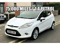 2009 Ford Fiesta 1.4 Zetec 3dr, 75K MILES,1 PREVIOUS OWNER, DRIVES GREAT