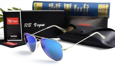 RB Vogue Aviator Sunglasses Polarized Metal Mirror Men/Women Sunglasses