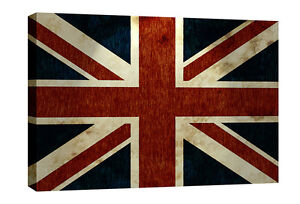 Union Jack British Flag Canvas Wall Art