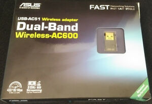 ASUS Dual-Band USB Wireless-AC600 Adapter