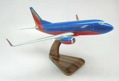 B 737 Southwest Air Boeing B737 Airplane Wood Model Sml Free Shipping