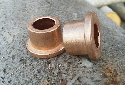 2pc American Bronze 12x 34 X 58 Flanged Bronze Bushing Made In Usa