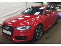 2013 RED AUDI A4 AVANT 2.0 TDI 177 QUATTRO BLACK EDITION CAR FINANCE FR £41 PW