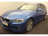 2016 BLUE BMW 335D TOURING 3.0 X DRIVE M SPORT DIESEL AUTO CAR FINANCE FR 83 PW