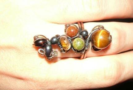 Assortment of handmade copper jewellery