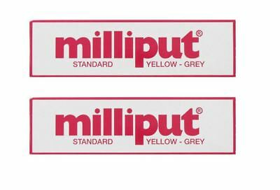 2 X Milliput Standard 2 Part Epoxy Putty Grey Yellow Modelling Diy - 113g 4oz