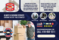 ⭐️DASH2DOOR MOVING CO. / 2 Movers & TRUCK!!⭐️ Short Notice 24/7