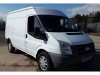 FORD TRANSIT GOOD CHEAP WHITE 350 115PS MWB MED ROOF 2.4 DIESEL NO VAT 2007 120K