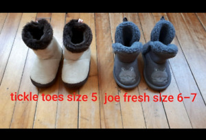 Baby warm shoes sizes on the pic