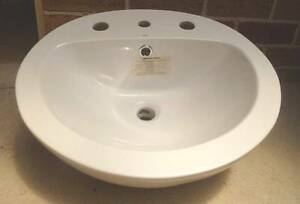 White Semi Recessed Bathroom Vanity BASIN Stylus 500mm Bomaderry Nowra-Bomaderry Preview