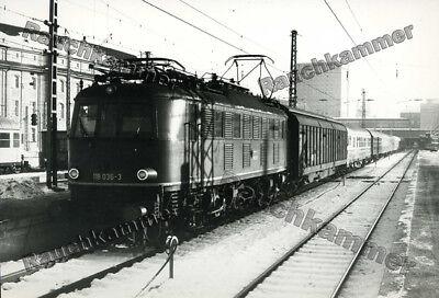altes PE-Foto DB 118 036-3 München Hbf 1981 - ca 10x15