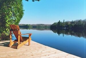 Beautiful large private lakefront cottage near Algonquin Park