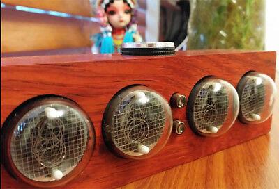 In-4 Glow Tube Clock Nixie Tube Clock Solid Wood Electronic Led Backlight Clock